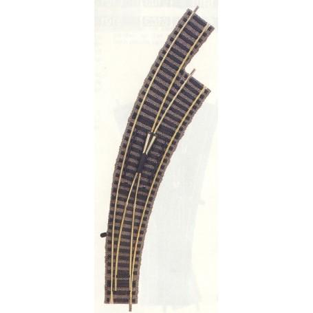 Fleischmann 6175 Kurvväxel, höger, manuell