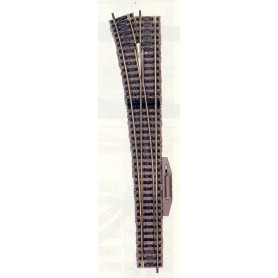 """Fleischmann 6180 Växel, lång """"Express"""", vänster, elektrisk, längd 300 mm"""