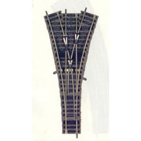 Fleischmann 6157 Tre-vägs växel, manuell, längd 200 mm