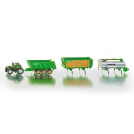 Siku 1848 Traktor Deutz Agrotron X720 med 3 olika släp