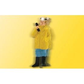 Viessmann 5189 Gruvarbetare med en radio, rörliga armar samt en pannlampa som lyser