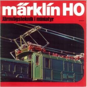 """Media KAT190 Informationshäfte Märklin H0 """"Järnvägsteknik i miniatyr"""" från 1979"""