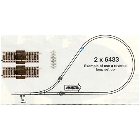 Fleischmann 6199 Vändslingemodul, längd 2 x 100 mm