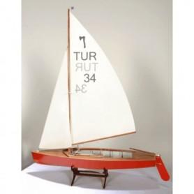 Türkmodel 151 Segelbåt Pirat-klass, byggsats i trä