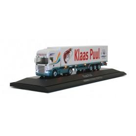 "Herpa 461306 Scania R TL refrigerated box semitrailer ""Klaas Puul"" (NL), SCENIX"