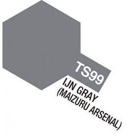 """Tamiya 85099 Sprayfärg TS-99 """"IJN Gray"""" matt, innehåller 100 ml"""