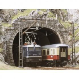 Busch 7027 Tunnelportaler, 2-spårs, 2 st