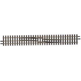 Tillig 85187 Rälsväxel, H0/H0m, vänster/höger, längd 228 mm