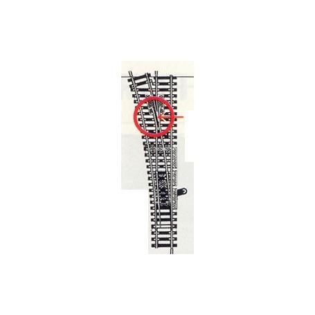 Fleischmann 6078 Växel, lång, vänster, maneull, längd 204 mm, radie 738 mm