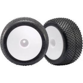 """Traxxas 7175 Däck, färdiglimmade, 2.2"""" fälgar, vit, dish, med Response Pro 2.2"""" däck , foam inserts, 1 par"""