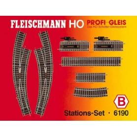 """Fleischmann 6190 Utbyggnadsset """"Station Set"""""""