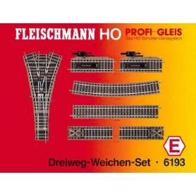 """Fleischmann 6193 Utbyggnadsset """"Three way point Set"""""""
