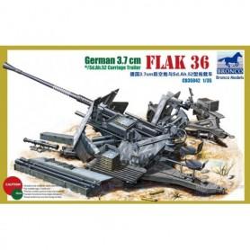 Bronco 35042 German 3.7 cm Flak 36 w/sd.Ah.52 Carriage Trailer