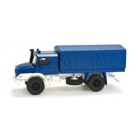 "Herpa 049160 Mercedes-Benz Zetros 4x4 pick-up / canvas cover ""THW"""