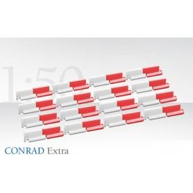 Conrad 998240 Vägdelare/barriär, röd/vit