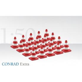 Conrad 998230 Traffikkoner, röd/vita