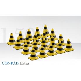 Conrad 9982301 Traffikkoner, gul/svarta