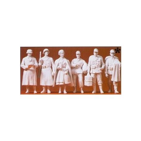 Preiser 64006 Militärer, Tyska Infanteriet 1939-45, omålade, 6 st