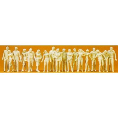 Preiser 65601 Omålade figurer, 18 st