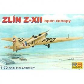 RS Models 92039 Flygplan Zlin Z-XII Stockholm Flygklubb 1937-38