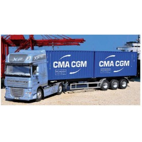Italeri 3861 DAF 105 XF with 2 x 20' Containers CMA-CGM