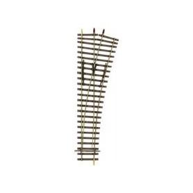 Tillig 85421 Växel EW2, manuell, höger, längd 178 mm, R484 15°, byggsats