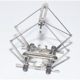 Märklin 600549 Strömavtagare, 1 st, förnicklad, bruna isolatorer, slityta 3 mm, 1997-. Kolls version 15.1