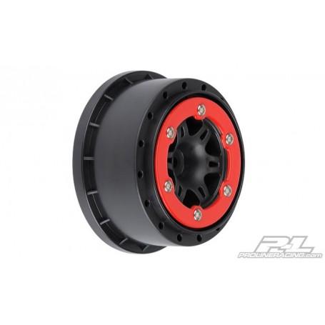 """Pro-Line 2715.04 Fälg Split Six 2.2""""/3.0"""" Red/Black Bead-Loc Wheels for Slash Rear, Slash 4x4 F/R, SCRT10 F/R & Blitz F/R"""