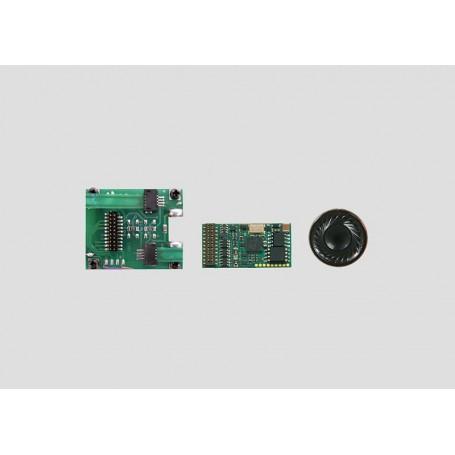 Märklin mSD Ljuddekoder för 36xxx serien ellok TRAXX, 21-pins MTC med  interfacekort