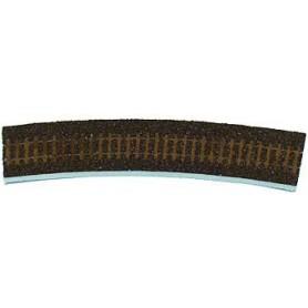 Tillig 86503 Rälsbädd, brun, för Tillig Kurva R21