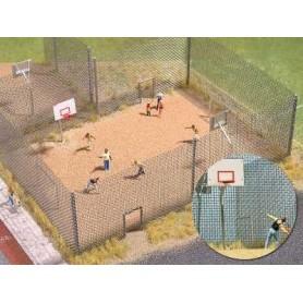 Busch 1057 Basketboll/Streetboll plan, mått ca 22 x 15 cm