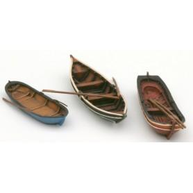 Artitec 38708 Äldre roddbåtar, 3 st (åror medföljer)