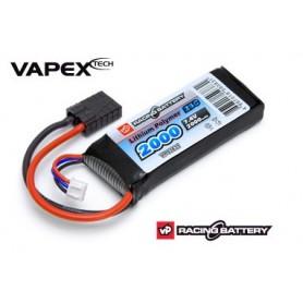Vapex VP93831 2S LiPo 2000 mAh 25C ackpaket för 1/16 Traxxasbilar