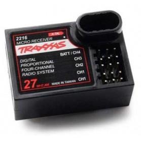 Traxxas 2216 Mottagare, micro, 4-kanals, 1 st