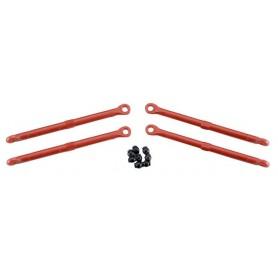 Traxxas 7138 Toe-Links Stag, plast, röd, 4 st, passar både fram och bak