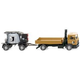 """Wiking 68903 MAN F90 Lastbil med cementmixtrailer """"Teerbau"""""""