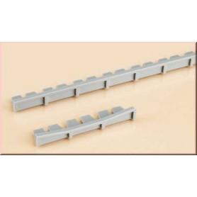Auhagen 41201 Perrongkanter, 6 st 241 x 7 mm, 6 st 52 x 7 mm