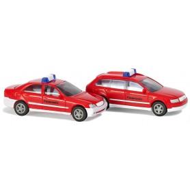 "Busch 8325 Set med 2 st bilar Audi A4 / Mercedes C-Klass ""Feurwehr"""