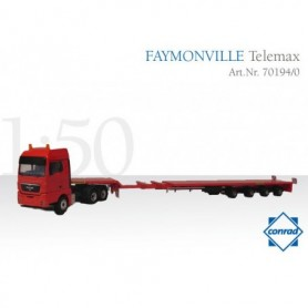 Conrad 701940 Faymoneville Telemax 4-axle with MAN TGX Conventional Truck 3-axle