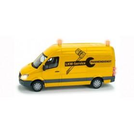 """Herpa 461573 Mercedes-Benz Sprinter """"Truck Service"""", med belysning och figur"""