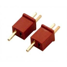DynoMAX B9586 Kontakter Mini-T, 1 par, med krympslang