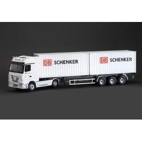 """Italeri 3865 Mercedes Benz Actros med 2 x 20' container """"DB Schenker"""""""