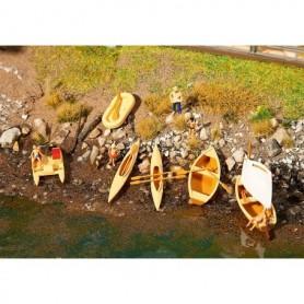 Faller 130513 Roddbåt, segelbåt, trambåtar, kanoter m.m.