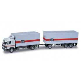 """Herpa 159326 Mercedes Benz S canvas cover trailer """"DB"""""""