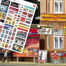 Busch 1138 Reklamskyltar med moderna reklamer