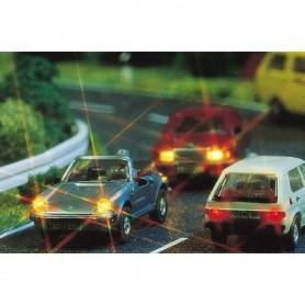 Busch 5927 Belysningsset för personbil, fram och bak