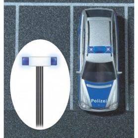 Busch 5938 Blinkset blåljusbalk, 2 blåa LED lampor med blinkkontroll