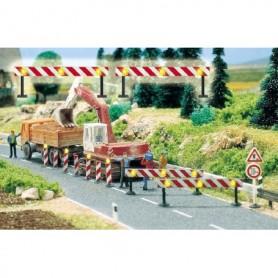 Busch 5945 Blinkande avspärrningar för vägbyggen, 2 st