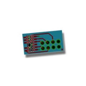 ESU 51969 Adapter för att ansluta en 8-polig NEM652 dekoder till ett lok med PluX12, 16 eller 22