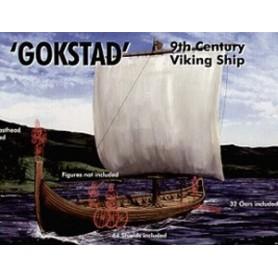 "Emhar 9001 Vikingaskepp ""Gokstad"", 9th Century, plastbyggsats"